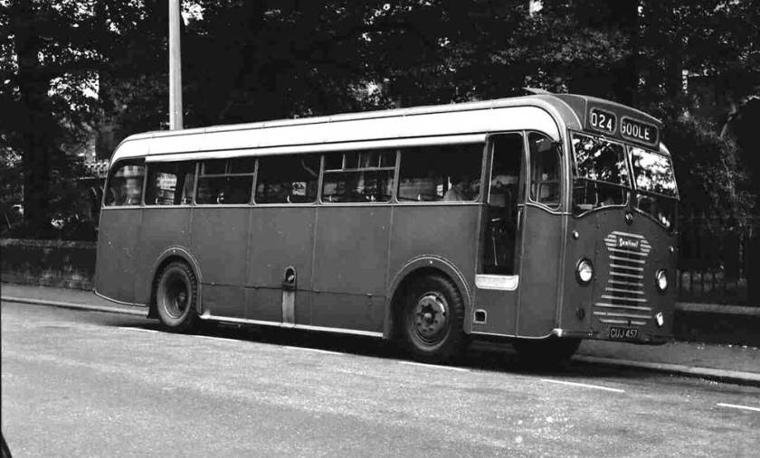 1950 Sentinel STC4-40, GUJ457, with Sentinel B40F body operating for Morgan, Armthorpe (Blue Line)