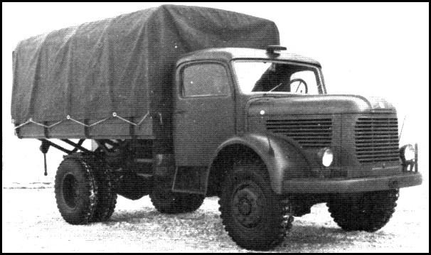 1950 Steyr 580 series of 4x4 3-ton trucks