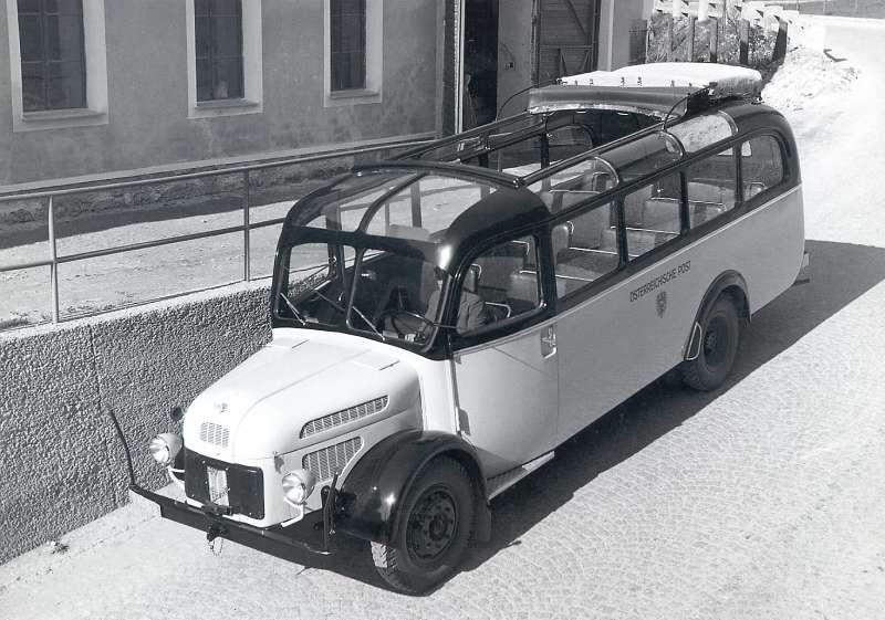 1950 Steyr Diesel 380 a Post-Omnibus