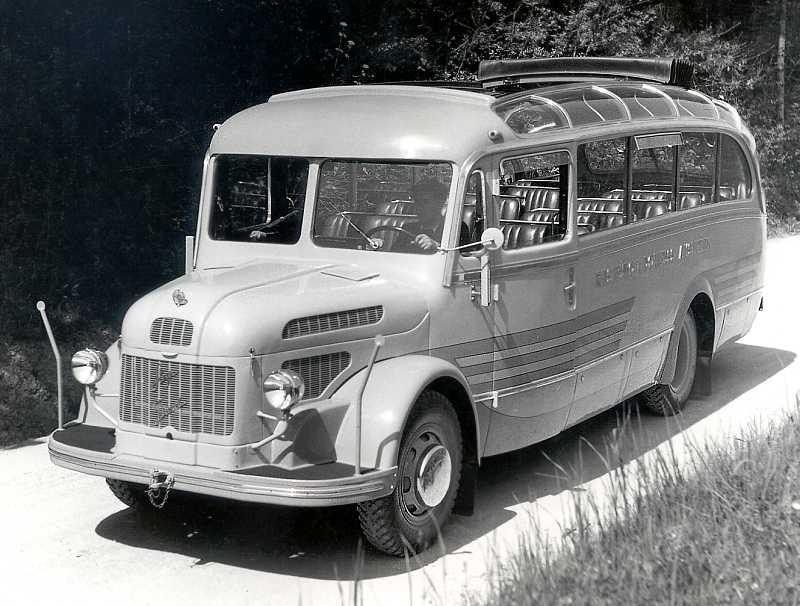 1950 Steyr Diesel 380 b - Reisebus (der Privat-Omnibus)