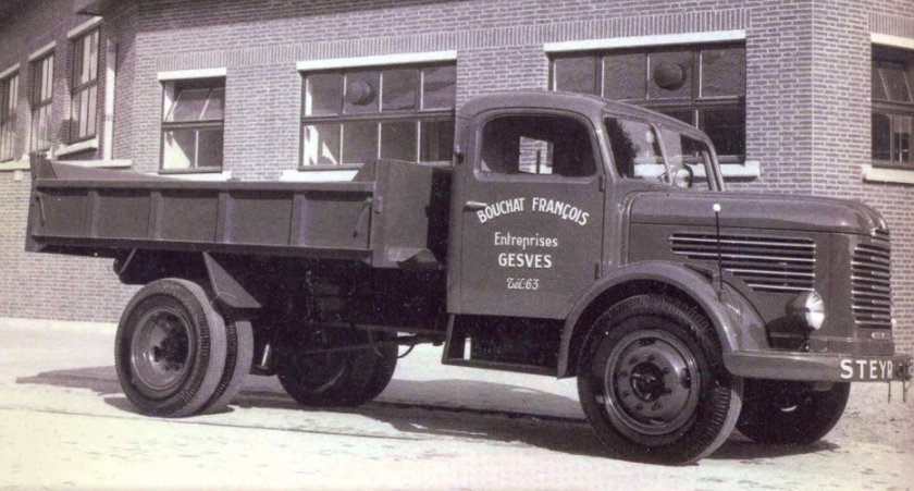 1950 STEYR flambant neuf des Transports Bouchat de GESVES