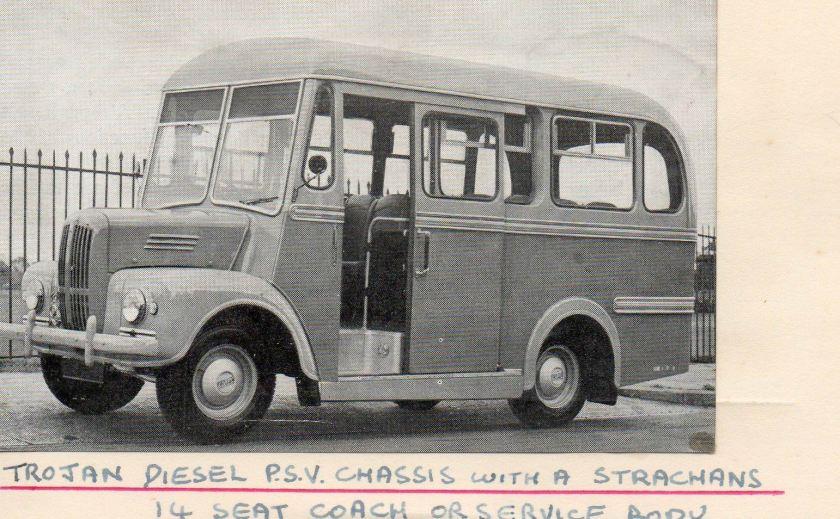 1950 Trojan Diesel with a Strachans 14 seat coach body
