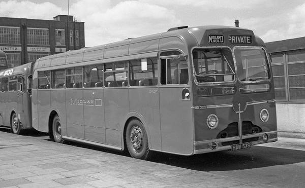 1951 non-standard Sentinel Midland Red single-decker 4846, HAW578 mr4846