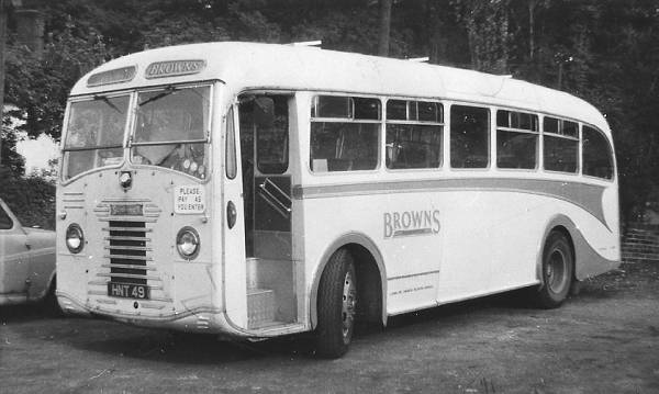 1951 Sentinel SLC4 with Beadle body converted from a centre-entrance coach to a front-entrance bus by the operator