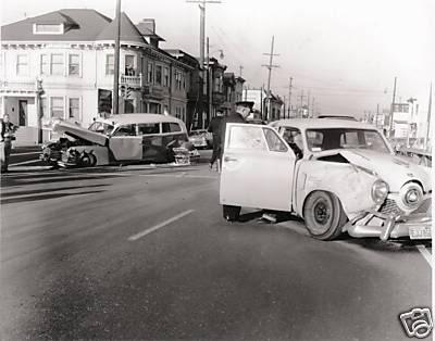 1951 Studebakers wreckedonstreet