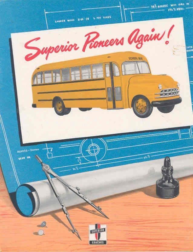 1951 Superior School Bus Sales Brochure