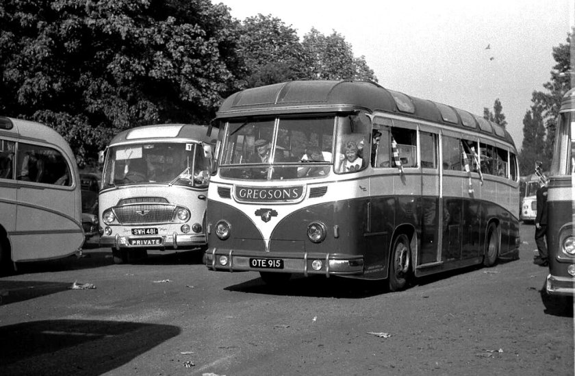 1952 Harrington 'Courier' C41C bodywork was carried by Gregson, Skelmersdale's Leyland PSU1-15 Royal Tiger