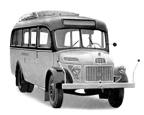 1952 Steyr 380 a Post-Linienbus