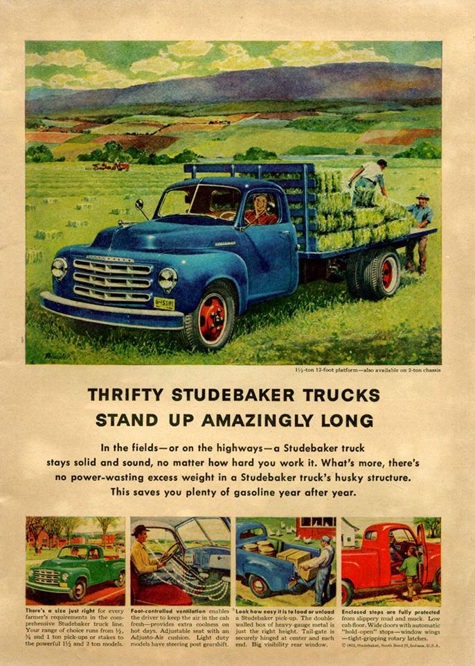 1952 Studebaker ad.