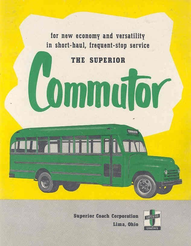 1952 Superior Commutor Bus Brochure