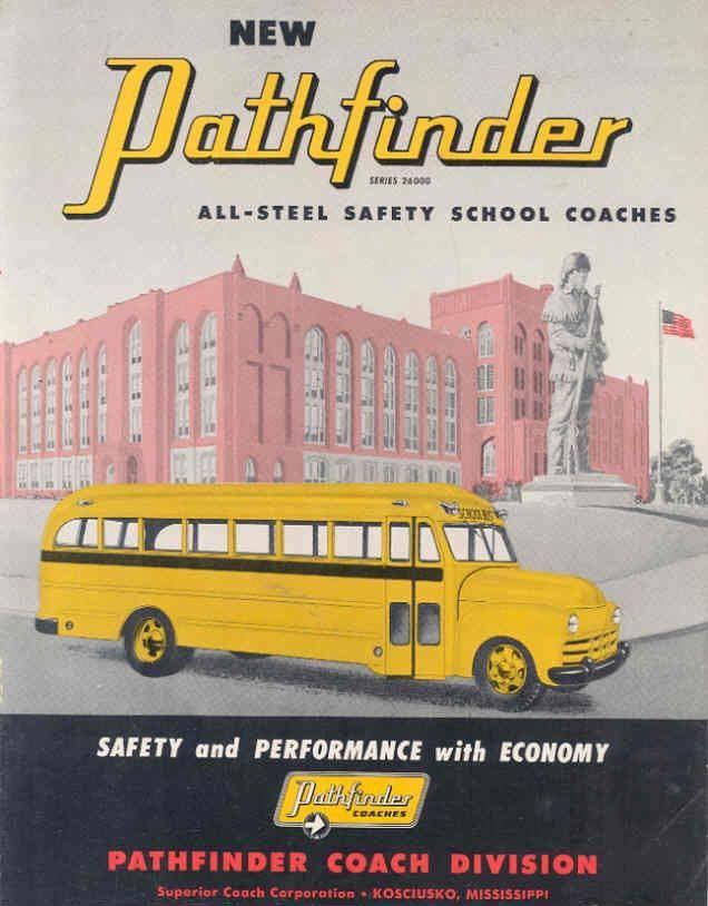 1952 Superior Pathfinder School Bus Brochure