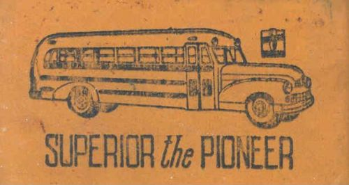 1952  Superior Pioneer School Bus Pencil Eraser