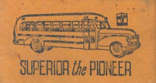 1952  Superior Pioneer School Bus Pencil Eraser