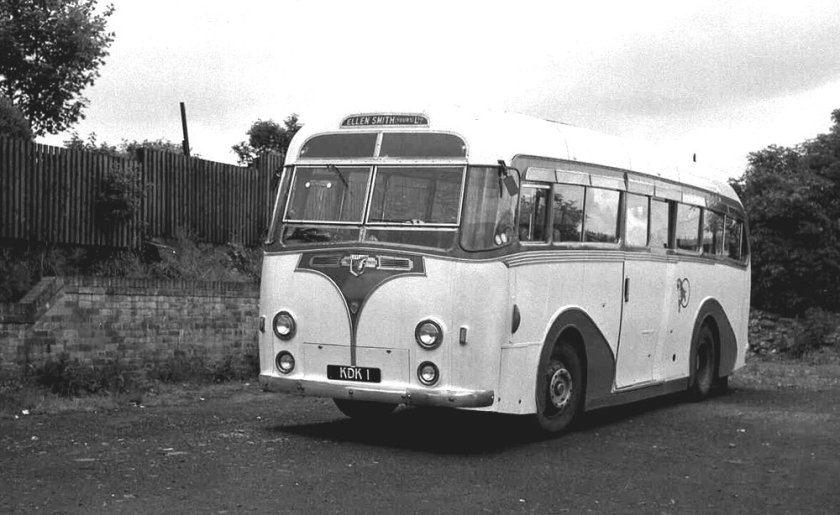1953 Harrington Wayfarer C41C bodywork was carried by KDK1, a Leyland PSU1-16 Royal Tiger a