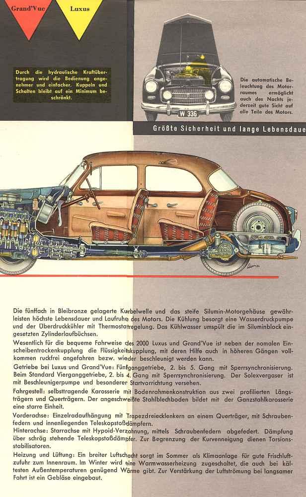 1953 Steyr 2000 A - Prospekte a