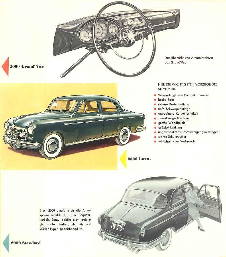 1953 Steyr 2000 A - Prospekte