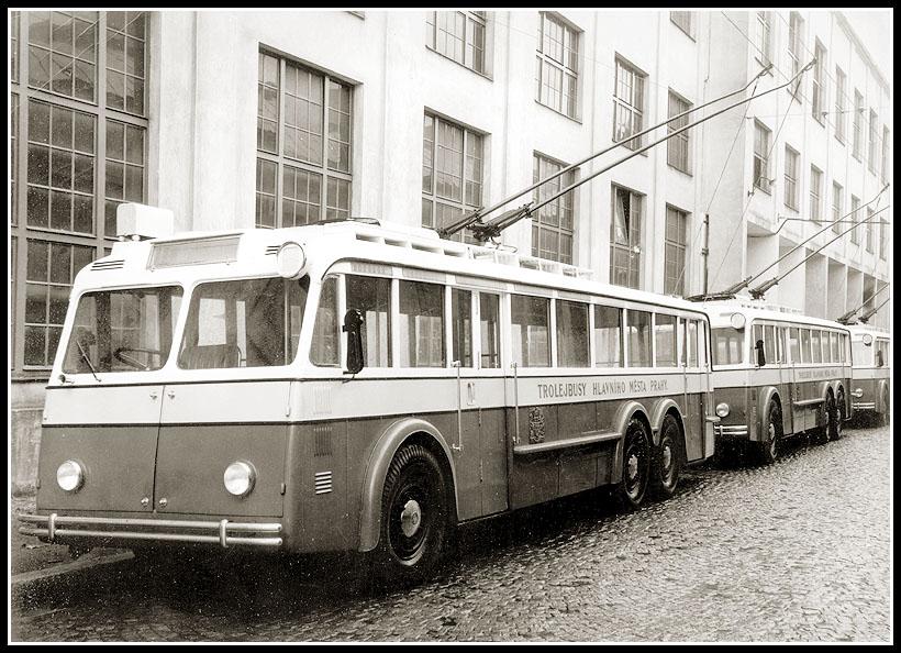 1953 Trolebus ŠKODA 2 Tr a