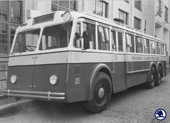 1953 Trolebus ŠKODA 2 Tr