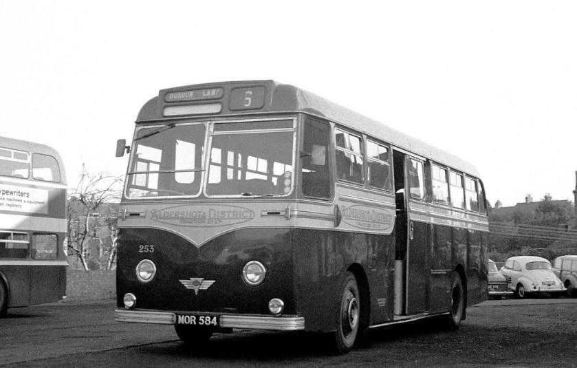 1954 AEC MU3RV Strachan C41C at Aldershot Garage