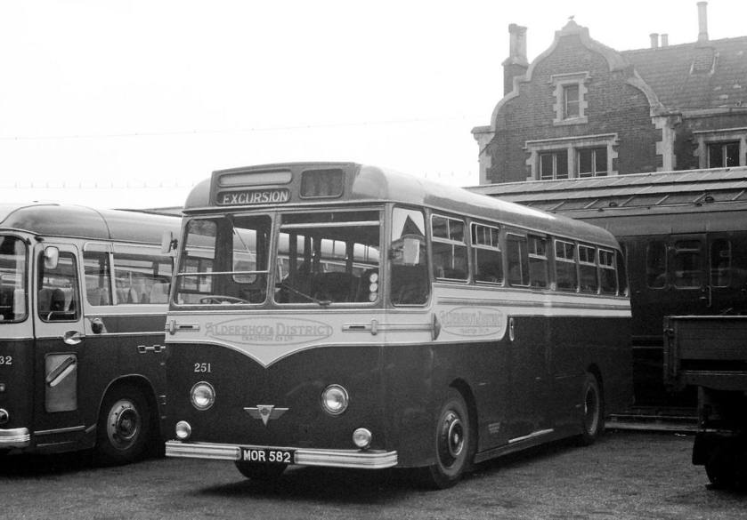 1954 AEC MU3RV Strachan C41C in Hampton Court Station Goods Yard
