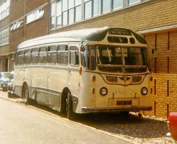 1954 AEC Reliance 2MU3RV with 37 seat centre entrance Harrington body