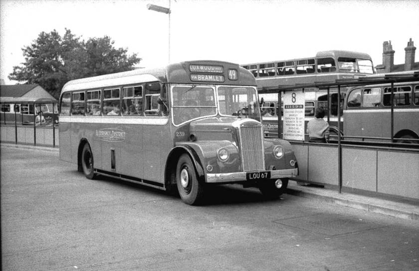 1954 Dennis P5 Falcons with Strachan B30F bo