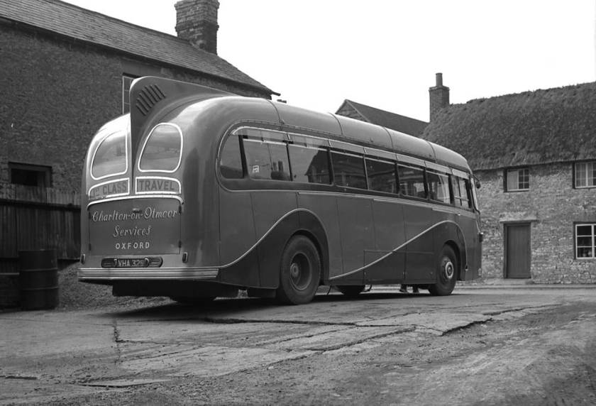 1954 Dorsal Fin' available as an option on the Wayfarer body, seen here in C37C form on the Leyland PSUC1-2T Tiger Cub