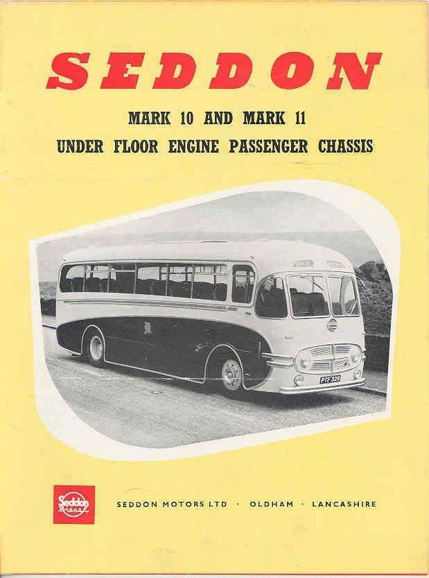 1954 Seddon Mark 10 and mark 11under floor engine passenger chassis
