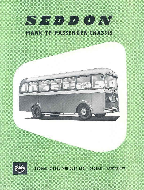 1954 Seddon Mark 7P Bus Brochure