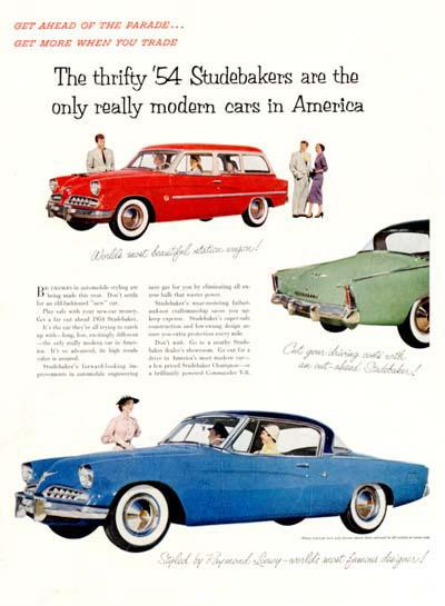 1954 Studebaker reclame