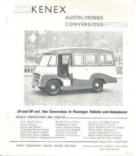 1955 Austin Morris Kenex Van Conversion