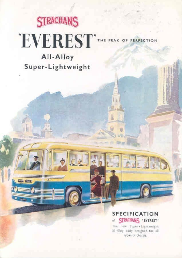 1955 Commer Strachans Everest Transit Bus Brochure