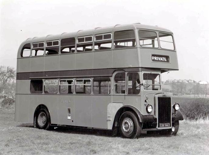1955 Leyland Bus, Longwell Green Coach a Works