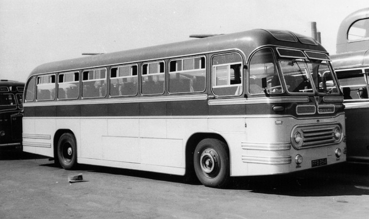 1955 OC1 Strachans Successors Ltd of Acton on AEC Reliance for Fales Coaches of Bath 1955