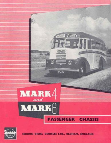 1955 Seddon Mark 4 & 6 Diesel Intercity Bus Brochure wi979-VHLBFZ