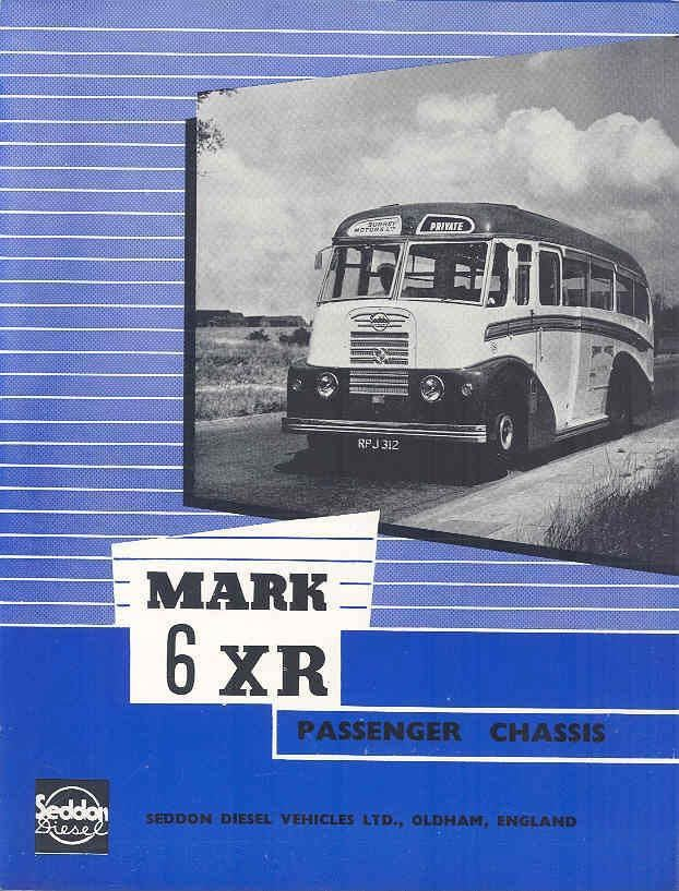 1955 Seddon Mark 6 XR Bus Brochure & Factory Letter a
