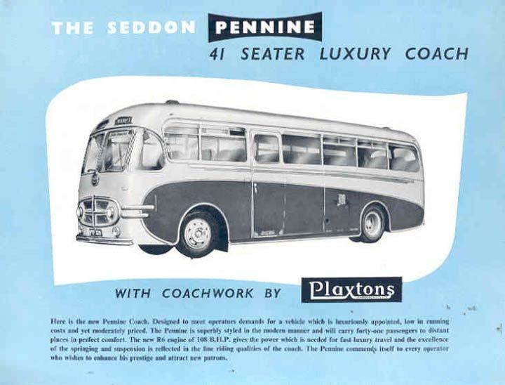1955 Seddon Pennine Plaxtons Brochure