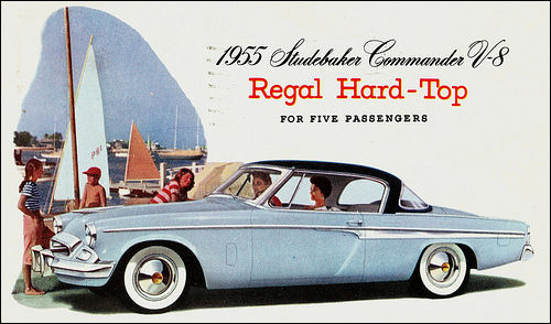 1955 Studebaker Commander V-8 Regal Hardtop