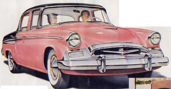 1955 Studebaker President carries the wraparound windshield