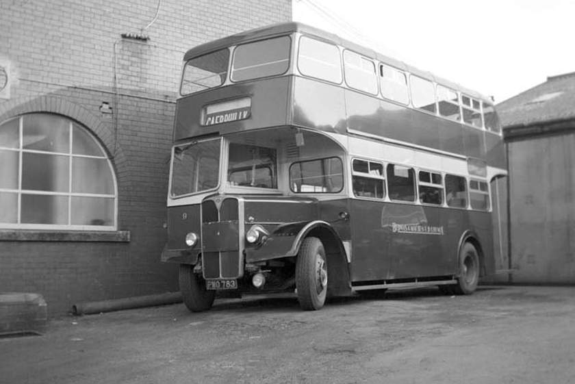 1956 AEC Regent V MD3RV with unusual Longwell Green bodywork which started off as L27-28R + later L31-28r
