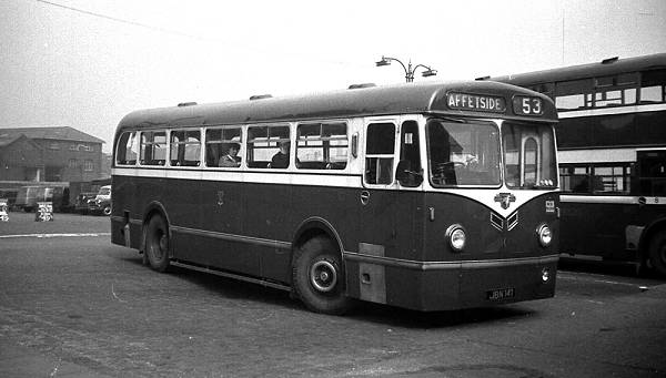 1956 Bond B43F body on its Leyland PSU1-14 Royal Tiger chassis