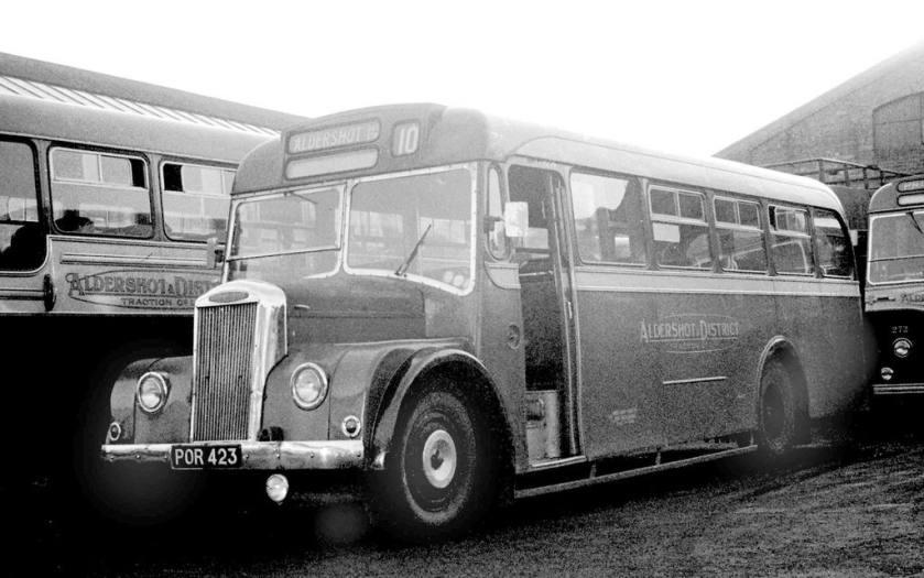 1956 Dennis Falcon Strachan B30F in Aldershot Garage yard