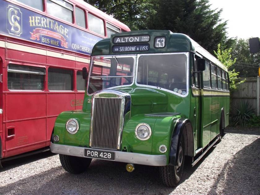 1956 Dennis Falcon with Strachan B30F body a
