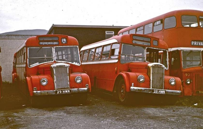 1956 Dennis Falcons with Strachan B30F bodies