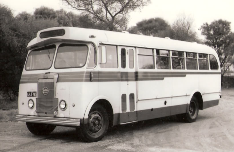 1956 Seddon Diesel 45 seat Mk 11R with an underfloor Perkins R6 engine. It was registered as GLD 974GFJ785