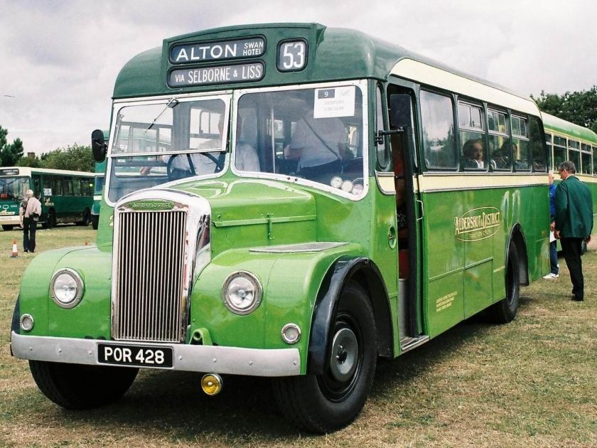 1956 Strachan bodied Dennis Falcon POR428 at Stokes Bay