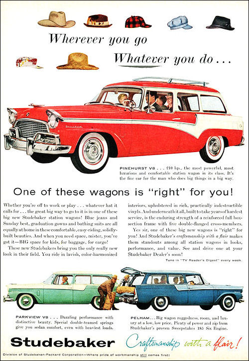 1956 Studebaker  sw Station Wagons