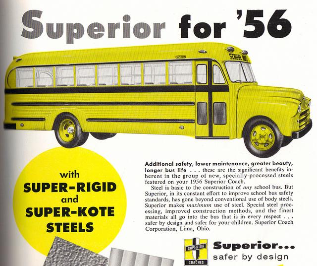 1956 Superior School Bus 1956