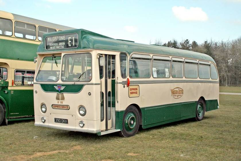 1958 Harrington bodied AEC Reliance coach SC390