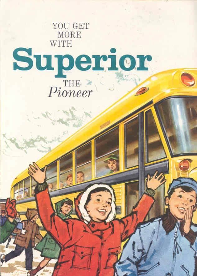 1958 Superior Pioneer School Bus Prestige Brochure
